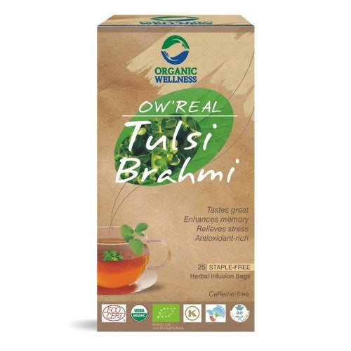 Bloom Organic OW'REAL Tulsi Brahmi Tea in Canada