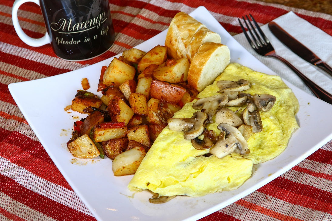 Mushroom and Garlic Omelette