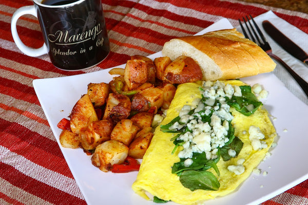 Spinach and Blue Cheese Omelette