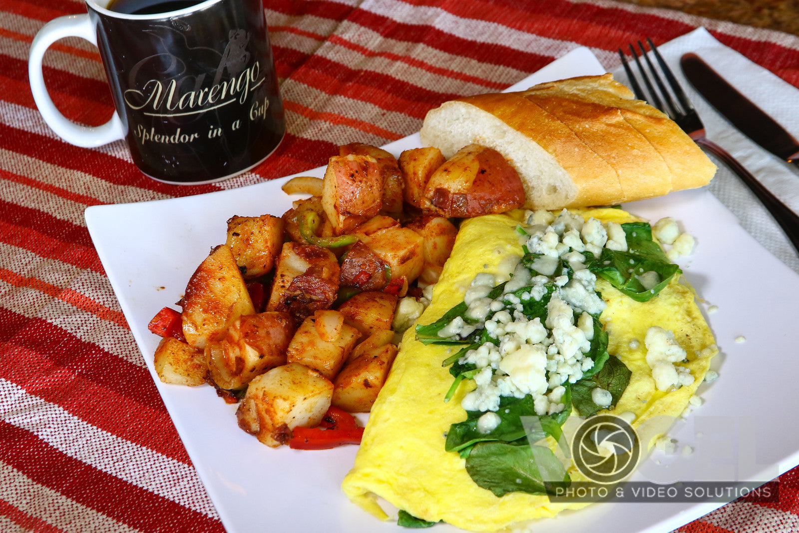 Spinach & Blue cheese Omelette
