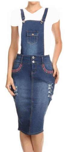 Denim Overall with straps