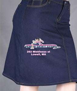 Fleece Lined Denim Skirt