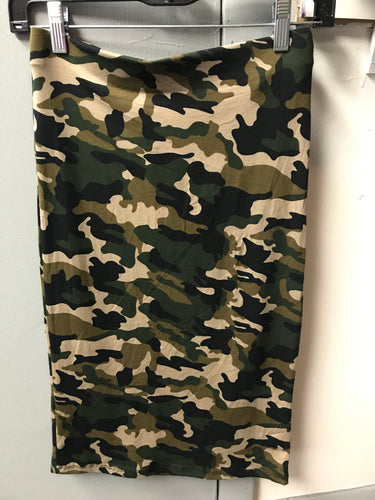 Camouflage Print Pencil Skirt