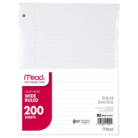 Filler Paper (10 Packs)