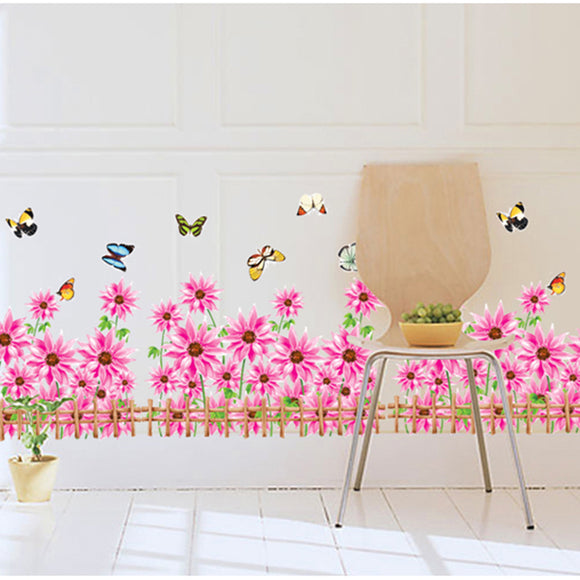 Flower Skirting Wall Stickers