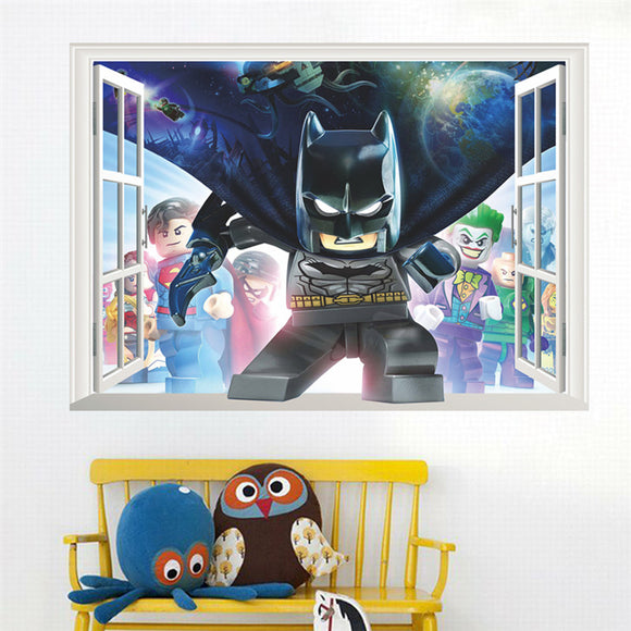 Cartoon Batman Wall Stickers - Window
