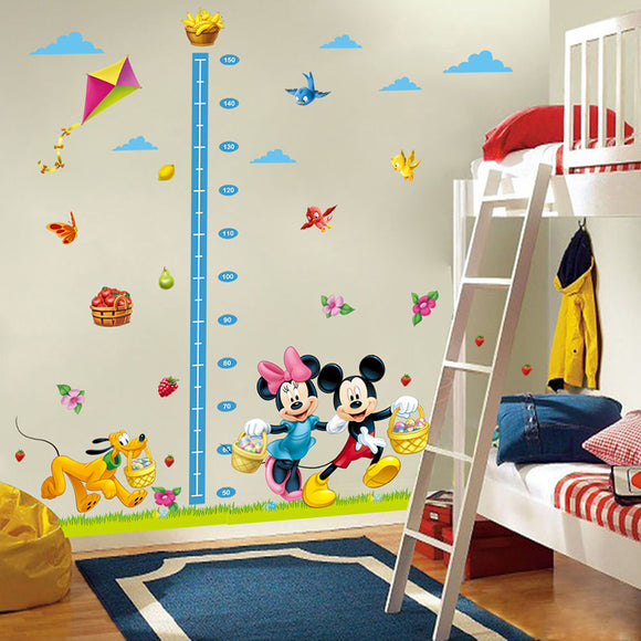 Mickey Minnie Height Measure Wall Stickers