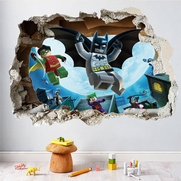 Cartoon Batman Wall Stickers
