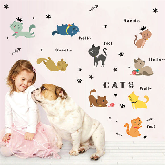 Lovely Cats Wall Stickers