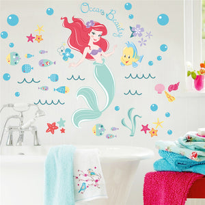 Mermaid & Bubble Wall Stickers