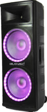 "MUSYSIC Professional Dual 2x15"" 4000W Speaker PA DJ LIGHT Bluetooth MU-215P4K"