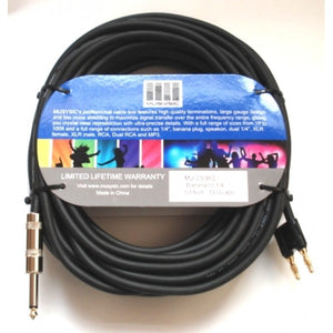"50 feet 14-Gauge Speaker Audio Cable 1/4"" - Banana Plug MU-C50BQ"