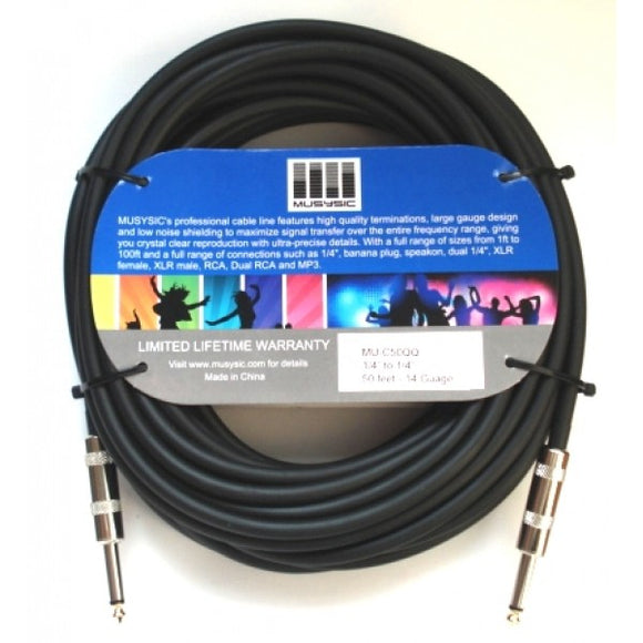 50 feet 14-Gauge Speaker Audio Cable 1/4