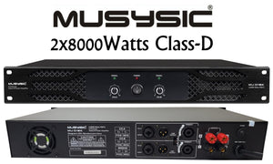 Professional 2-Channel 2x8000 Watts PMPO D-Class Power Amplifier MU-D16K
