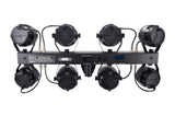 Complete Professional 8-Par Stage LED Lights DJ Band DMX System & Stand MU-L53GG