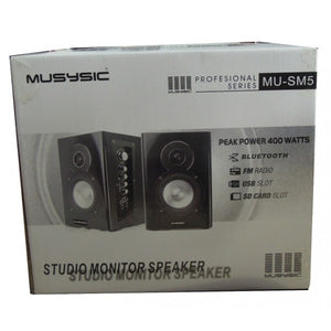 "Professional 5"" Powered Studio Monitor Speakers Bluetooth MU-SM5"