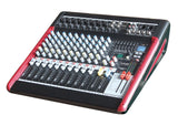 Professional 12 Channel PA Mixer 24-bit 99 FX USB interface MU-T102FX