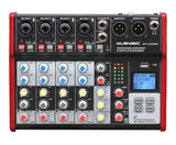 Professional 6 Channel PA Mixer / Independently phantom power MU-SE6ME