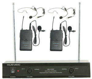 VHF wireless microphone system