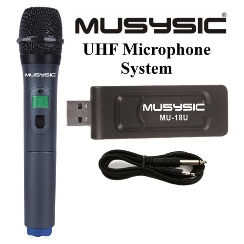 Professional UHF Handheld Wireless Microphone System With USB Receiver MU-18U