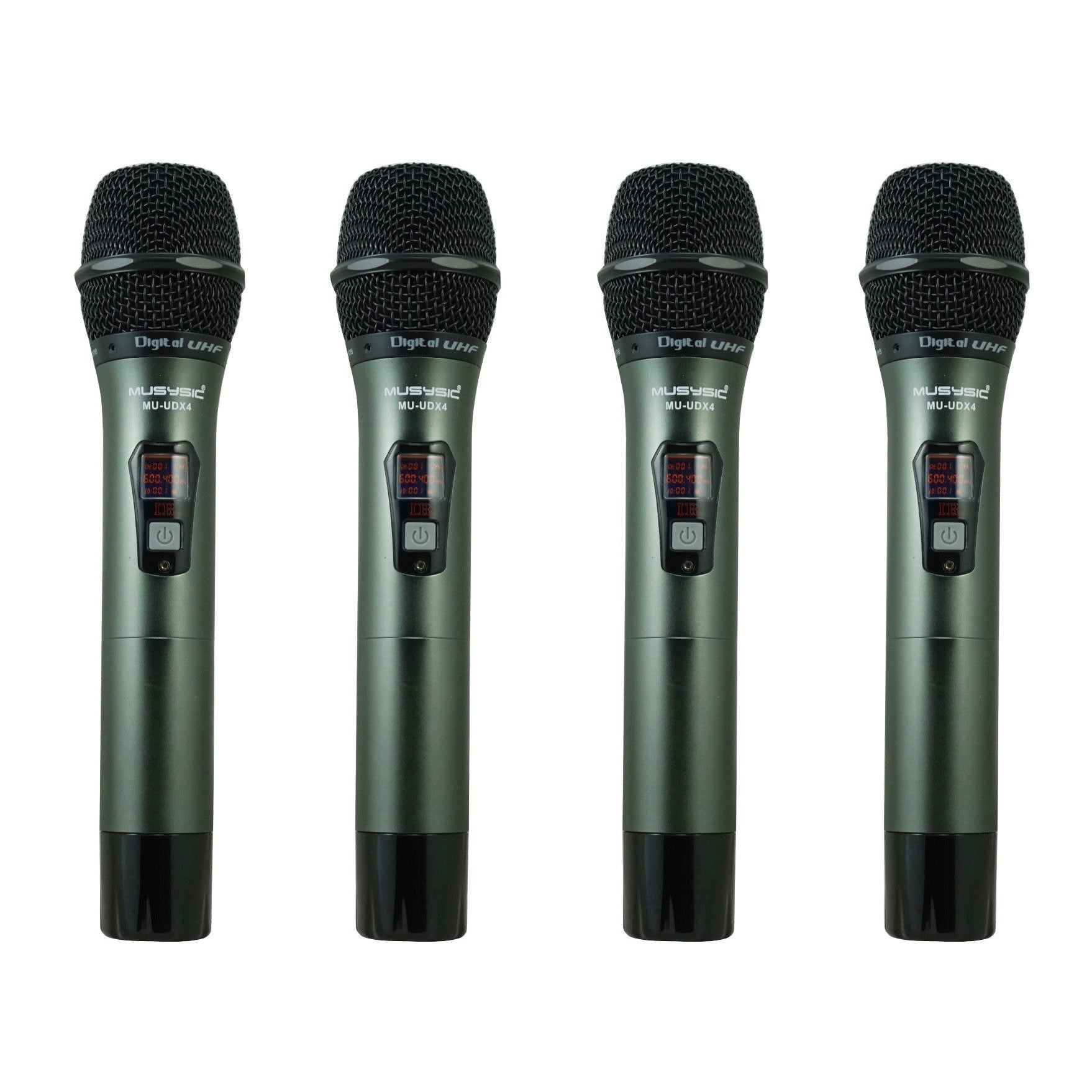 4 channel uhf diversity wireless handheld microphone system 4x40 fq musysic. Black Bedroom Furniture Sets. Home Design Ideas