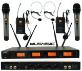 4-CH UHF Diversity Wireless Handheld Lavalier Microphone System 4x40FQ MU-UDX4HL