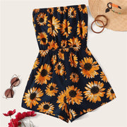 Sunflower Strapless Romper