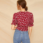 Ditsy Floral Boho Style Blouse - My Coconut Heart