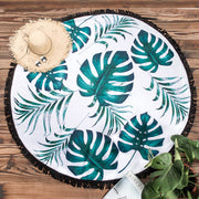 Palm Leaf Round Beach Towel