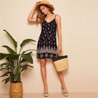 Tribal Print Mini Dress