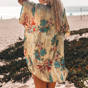 Floral Buttoned Cover-Up