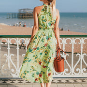 Turtle Neck Floral Dress