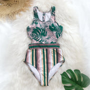 Leafy One-Piece Swimsuit