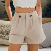 Casual Mid Waist Shorts