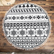 Geometric Print Round Beach Towel