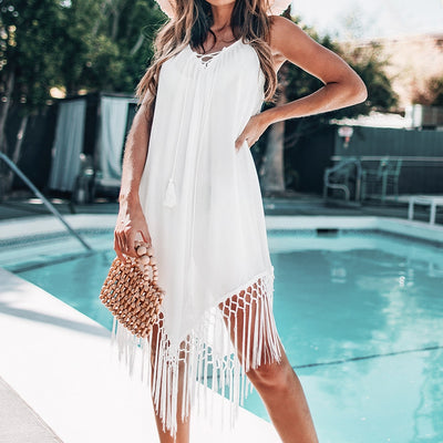 Backless Fringe Cover Up