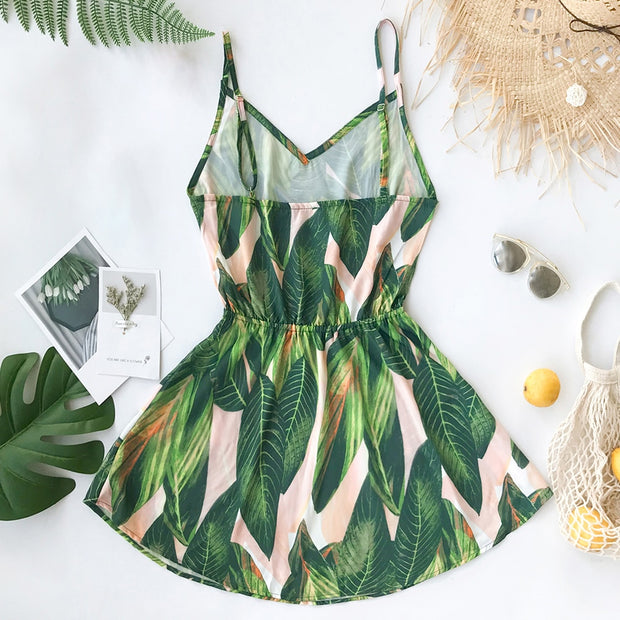 Banana Leaf Mini Dress