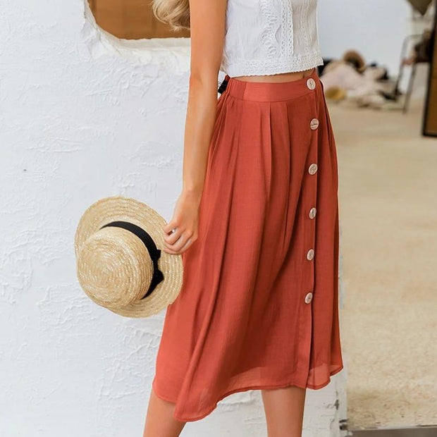 Vintage Mid-Calf Skirt