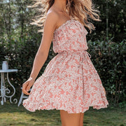Strapless Ruffled Mini Dress
