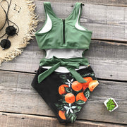 Tropical Cut-Out One Piece Swimsuit