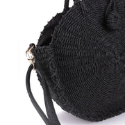 my-coconut-heart - Black Straw Crossbody Bag