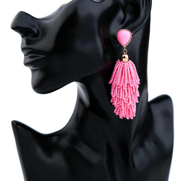 Beads Drop Earrings - My Coconut Heart