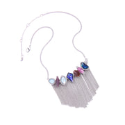 my-coconut-heart - Mixed Color Irregular Gemstone Necklace