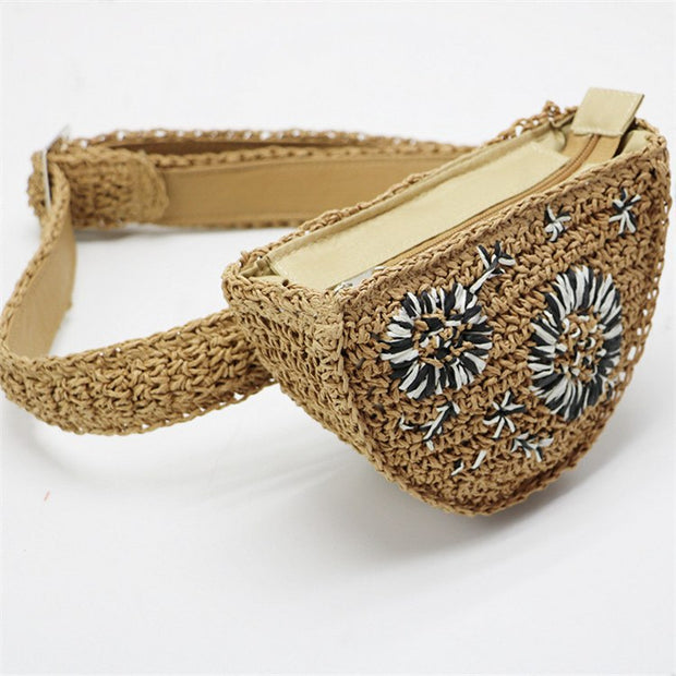 my-coconut-heart - Flower Straw Waist Pack