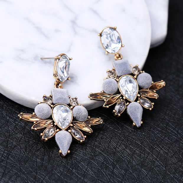 Classic Crystal Water Drop Earrings
