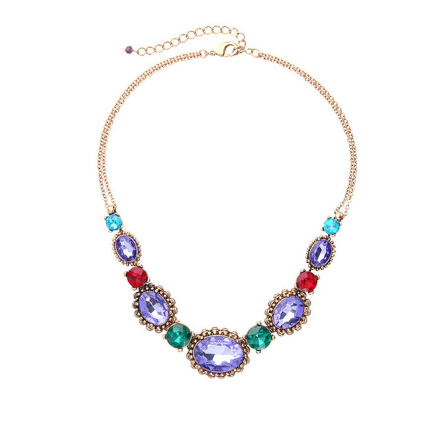 Colorful Crystal Choker Necklace