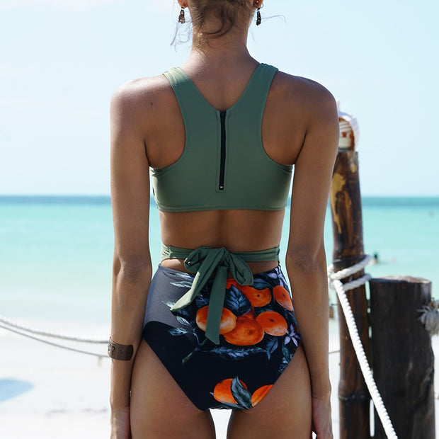 my-coconut-heart - Tropical Cut-Out One Piece Swimsuit