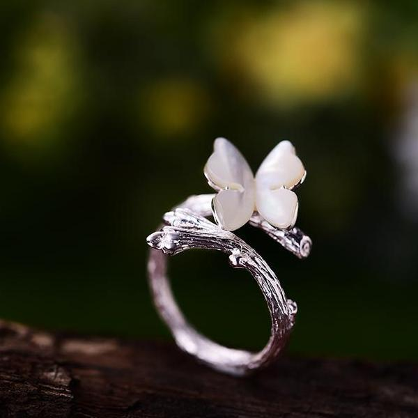 my-coconut-heart - Butterfly Ring 925 Sterling Silver