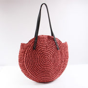 my-coconut-heart - Round Straw Summer Bag
