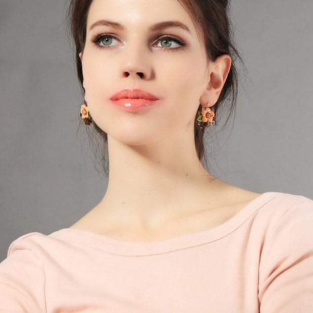 Colorful Flower Drop Earrings